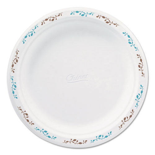 Paper white plate round chinet premium strength paper dinnerware with festival design 8.75 inch case of 500 plates replaces huhpolka