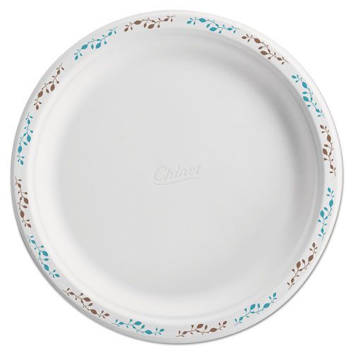 Chinet HUH22519 paper plates round premium strength with festival design 10.5 inch case of 500 plates replaces Huhporch