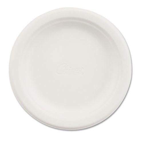 Paper white plate 6 inch round chinet premium strength paper dinnerware case of 1000 plates huhtamaki huh21225