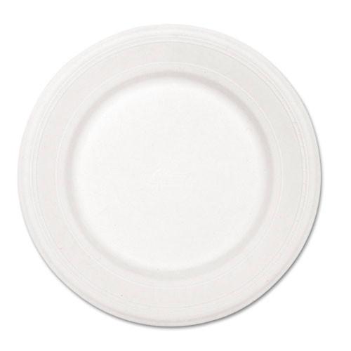 Paper white plate round chinet premium strength paper dinnerware 10.5 inch case of 500 plates huhtamaki huh21217