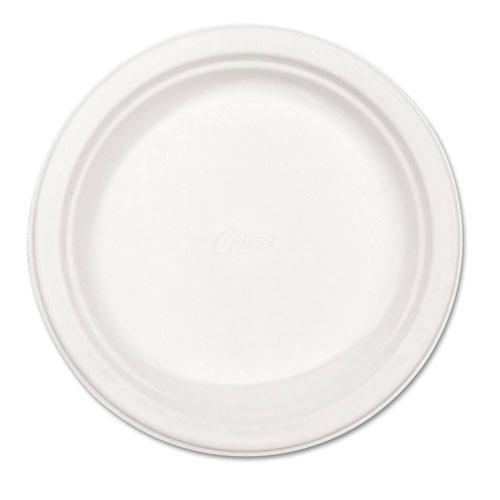 Paper white plate round chinet premium strength paper dinnerware 8.75 inch case of 500 plates huhtamaki huh21227