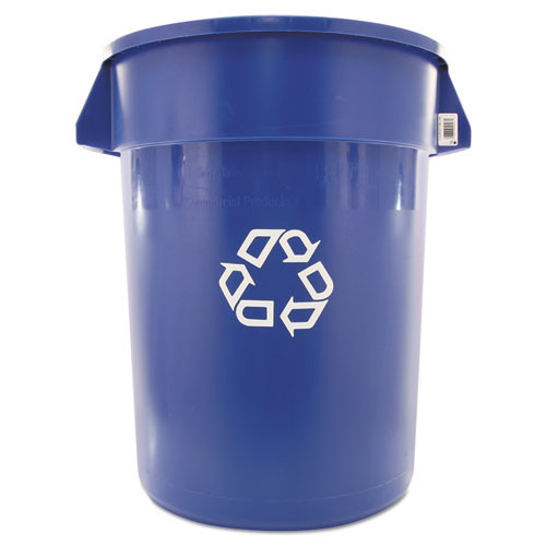 Rubbermaid 263273blu trash can 32 gallon Brute round container recycle blue replaces rcp263273blu rcp263273be