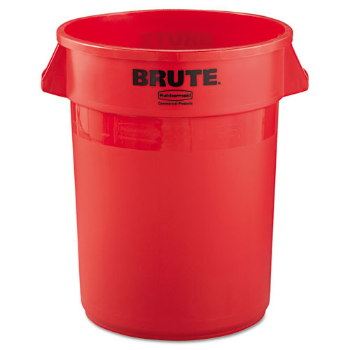 Rubbermaid 2632red trash can 32 gallon Brute round container red
