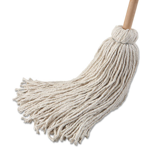 Boardwalk BWK132C deck mop wood handle cotton mop head 32oz 54 inch handle pack of 6 mops