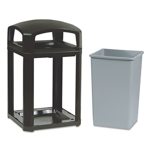 Rubbermaid 3970sab trash cans 35 gallon Landmark container sable
