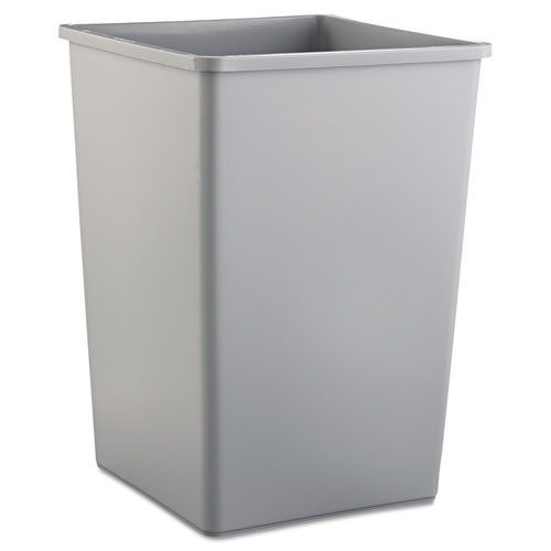 Rubbermaid 3958gra trash can Untouchable 35 gallon container square gray