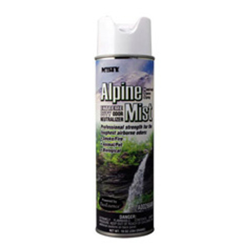 Misty air odor neutralizer aerosol spray alpine mist fragrance 10 oz can case of 12 amrep AMR1039394 replaces AMRA26620