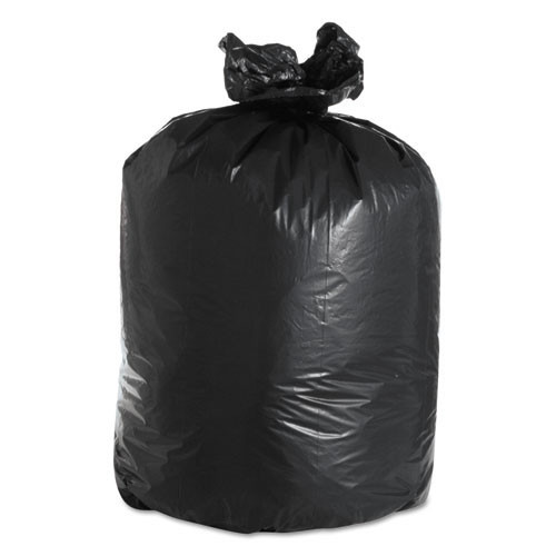 Boardwalk BWK526 60 gallon trash bags case of 100 black 38x58 linear low 2.40 mil eqv extra heavy duty strength coreless rolls