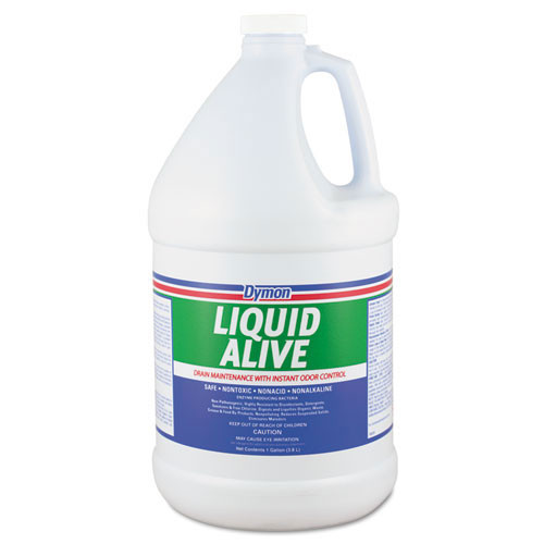 Dymon liquid Alive enzyme drain maintainer deodorant 1 gallon bottles case of 4 replaces DYM23301 ITW23301
