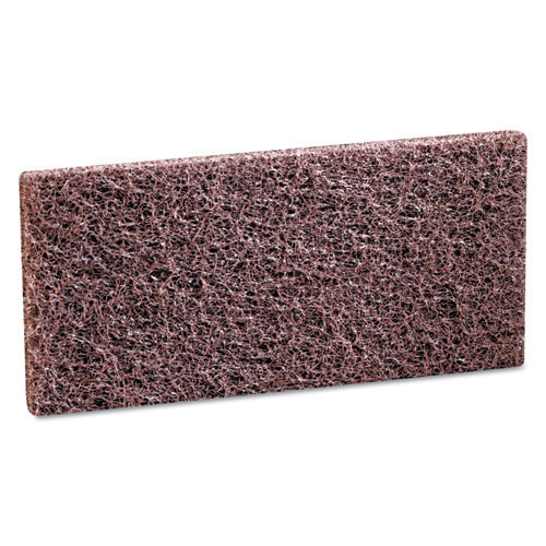 3M 8541 Doodlebug brown scrub n strip pads MMM08004 4.625x10 for heavy duty cleaning and stripping case of 20 pads replaces MCO08004