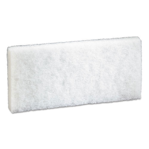 3M 8440 Doodlebug white cleaning pad 4.6x10 inches MMM08003 for cleaning delicate surfaces case of 20 pads replaces MCO08003