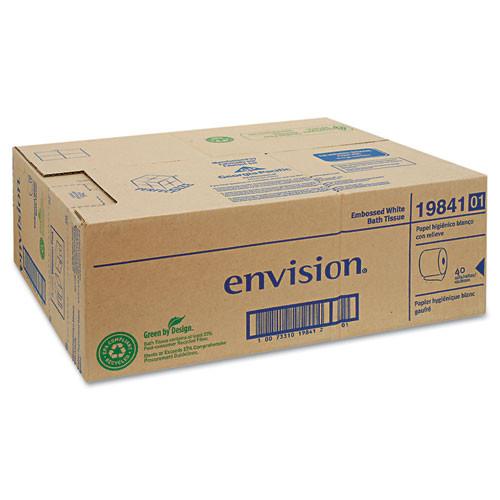 Envision GPC1984101 embossed bathroom tissue 1 ply 40 rolls per carton