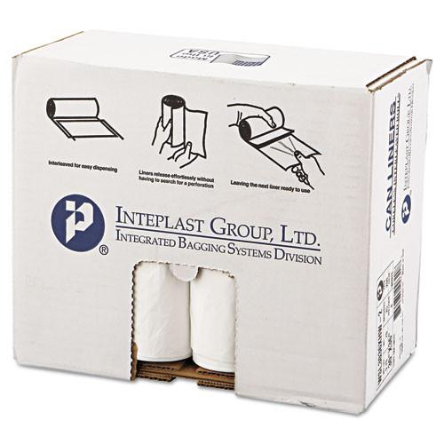 Inteplast IBSSL3036XHW2 low density can liner 30x36 30gal .7mil white 25 roll 8 rolls per carton