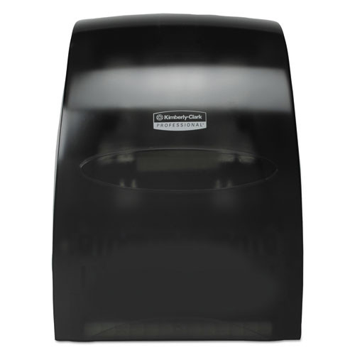 Kimberly Clark KCC09996 sanitouch hard roll towel dispenser 12.63wx10.2dx16.13h smoke