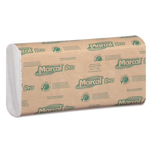 Marcal MRCP100B folded paper towels 10.5x12.75 cfold white 150 pack 16 packs carton