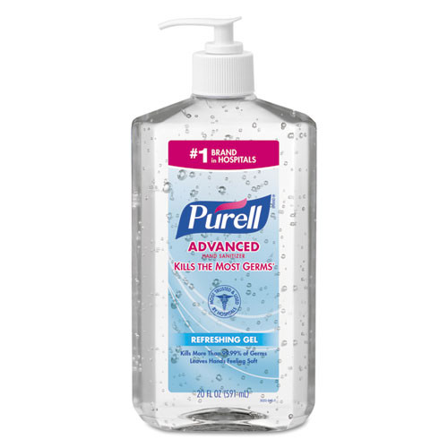 Purell GOJ302312 advanced instant hand sanitizer 20oz pump bottle 12 carton
