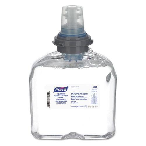 Purell GOJ539202EA advanced tfx foam instant hand sanitizer refill 1200ml white
