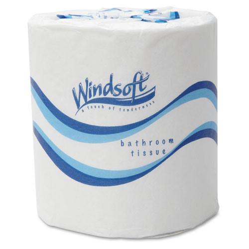 Windsoft WIN2405 embossed bath tissue 2 ply 500 sheets per roll 48 rolls per carton