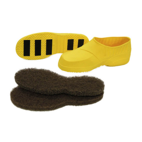Gripper stripping and non slip shoes large for shoe size 9.5 to 11 1 pair yellow C408003 gw