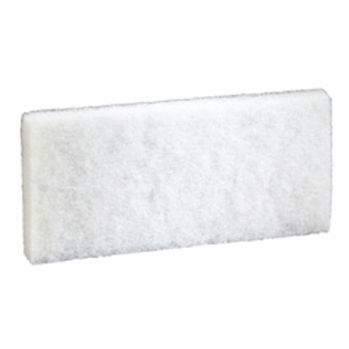 Boardwalk BWK401 white utility pad 4x10 case of 20 replaces PAD401