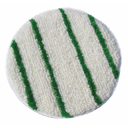 ScrubStrip Carpet Bonnet 17 inch with scrub strips by Cleaning Stuff case of 2 bonnets 17BONNET