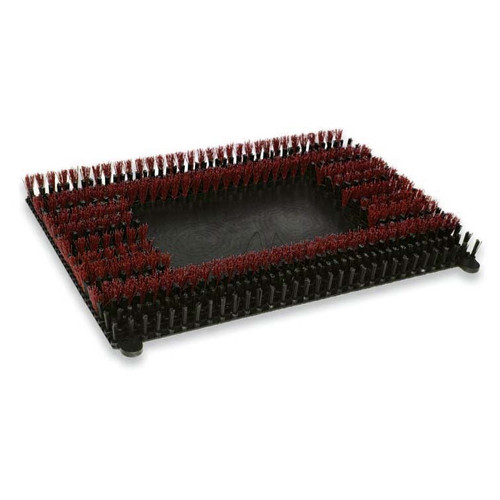 Malish Sonicscrub 703428 14x28 inch red MalGrit Lite scrub brush 500 grit .018 nylon for square strip scrub machines