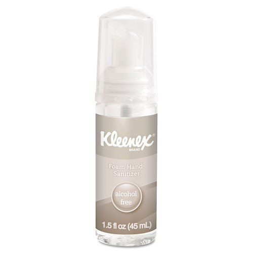 Kleenex KCC34136 alcohol free foam hand sanitizer 1.5 oz clear case of 24