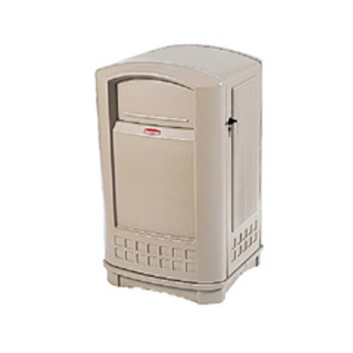 Rubbermaid 3964bei trash can plaza 50 gallon container beige replaces rcp3964bei rcp396400bg