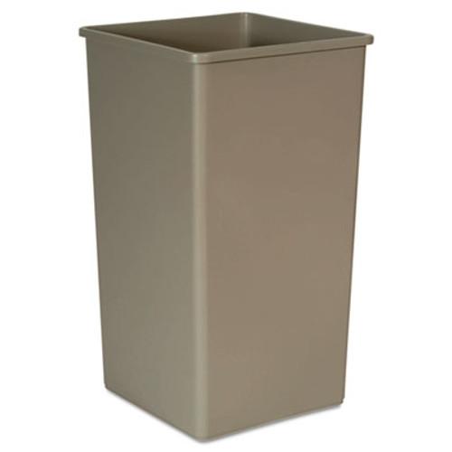 Rubbermaid 3959bei trash can Untouchable 50 gallon container square beige