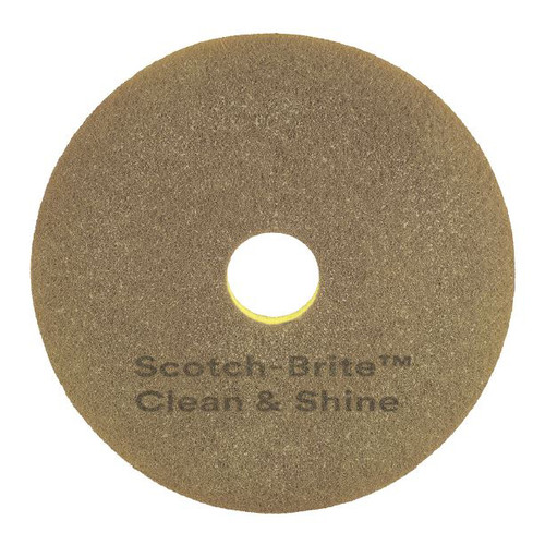3M 09544 scotch brite clean and shine pad 17 inch for cleaning and shining floors up to 600 rpm case of 5 pads gw