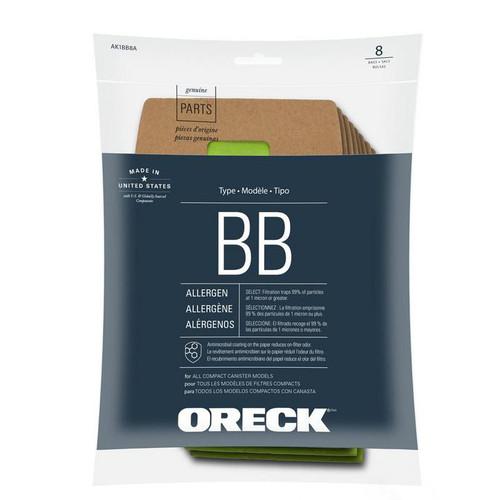 8 Oreck vacuum bags AK1BB8A Allergen Filtration for Xlpro5 Bb870ad Bb880ad Bb900dgr pack replaces Pkbb12dw