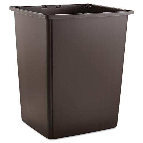Rubbermaid 256bbro trash can Glutton 56 gallon container brown