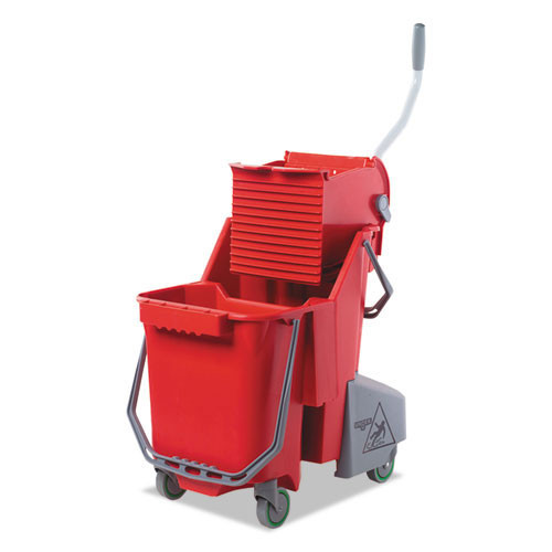 Unger ungcombr restroom smartcolor red mop bucket wringer combo combr 8 gallon gw