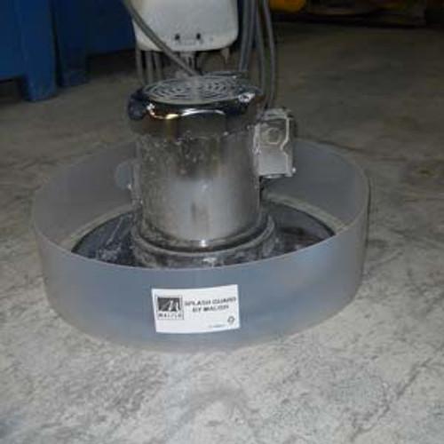 Floor scrubber splashguard ring SWINGS fits most machines stops splashing on baseboard during stripping scrubbing by Malish gw