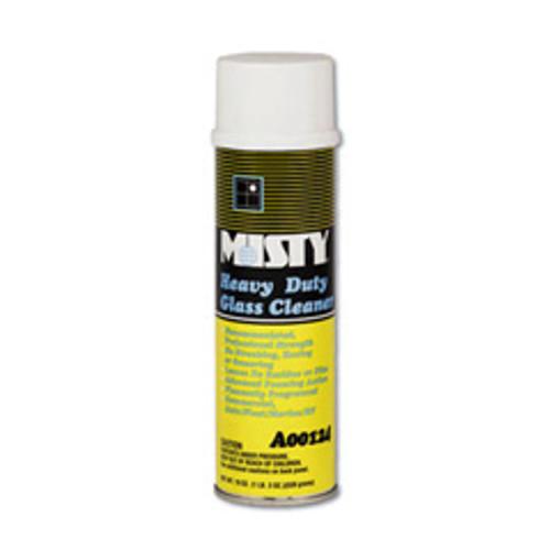 Misty heavy duty glass cleaner nonammoniated foaming action lemon fragrance aerosol 20oz can case of 12 replaces AMRA12420 amrep AMR1001482