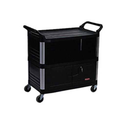 Rubbermaid 4095bla av cart audio visual xtra av equipment
