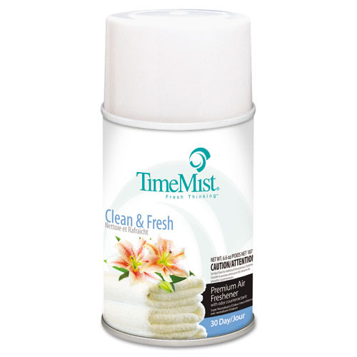 Timemist air freshener refills clean n fresh case of 12 replaces tms2502 and TMS332502TMCACT TMS1042771