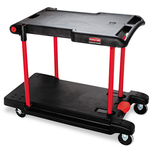 Rubbermaid 4300bla convertible utility cart platform truck collapses for storage platform truck is 23x45x34 400 lb black replaces rcp4300bla rcp430000bk