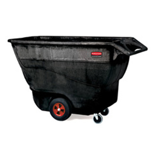Rubbermaid 9t15bla tilt truck made of structural foam 1 cubic yard 1250 lb. black