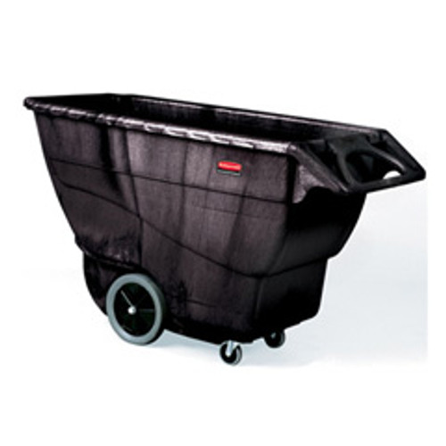 Rubbermaid 9t16bla tilt truck made of structural foam 1 cubic yard 2100 lb. black