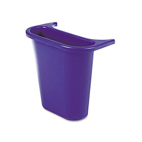 Rubbermaid 295073blu trash can side recycling bin for 7 gallon wastebaskets plastic blue replaces rcp295073blu rcp295073be