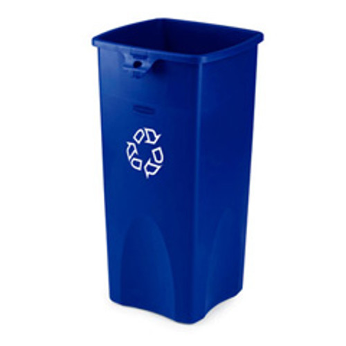 Rubbermaid 356973blu Untouchable square recycling container 23 gallon blue replaces rcp356973blu rcp356973be