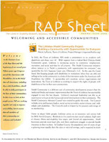NH RAP Sheet Summer 2005: Welcoming and Accessible Communities