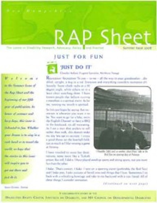 NH RAP Sheet Summer 2008: Just for Fun