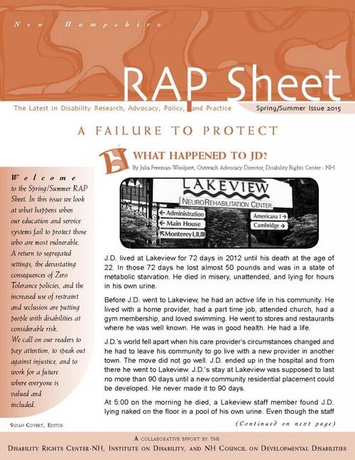 NH RAP Sheet Spring/Summer 2015 A Failure to Protect