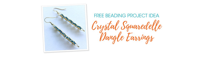 Free Project Idea: Crystal Squaredelle Dangle Earrings
