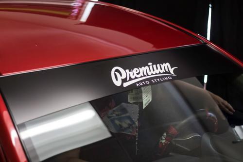 Premium Signature Window Banner ( Satin Black / White )