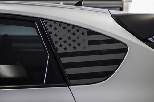 American Flag Quarter Window Decal (2008 - 2014 IMPREZA WRX / STI HATCHBACK)
