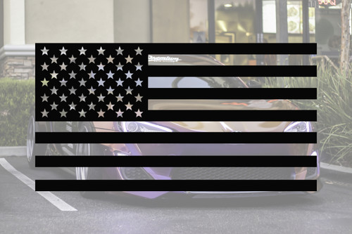 Universal American Flag Window Decal Set