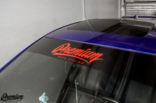 Premium Signature Window Banner ( Black / Red )